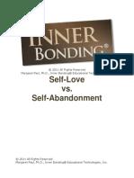 Self Love Self Abandonment