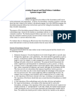 PhD Dissertation Proposal and Final Defense Guidelines