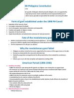 1898 Philippine Constitution