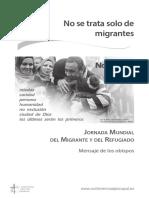 Mensaje de los obispos para la Jornada Mundial de Migraciones