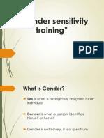 Gender Sensitivity Training