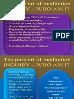 Who Am i Meditation