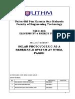 Solar Panel as a Renewable System at Edu Hub