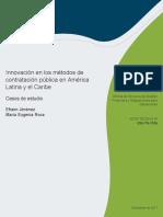 Innovación en Los Métodos de Contratación Pública en América Latina y El Caribe Casos de Estudio