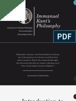 Immanuel Kant's Philosophy