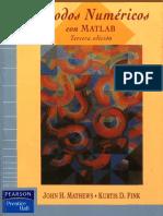 Métodos Numéricos Con MATLAB, 3ra Edición - John H. Mathews v1