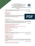 LISTA DE EXERCÍCIOS Nº1 - COM GABARITO