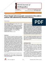 Power Doppler ultrasonographic assessment of the ankle in patients with inflammatory rheumatic diseases