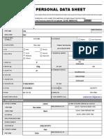 Lara Personal Data Sheet
