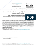 Transesterification of Waste Cooking Oil Quality Assessment 2019 Energy Pr