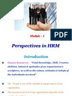 HRM Module - 1