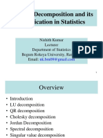 Matrix Decomposition and Its Application in Statistics NK
