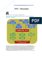 Información de La Crisis de 1917