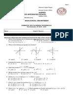Summative Test in Gen. Math-1