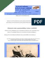 Histoire Des Automobiles Léon LAISNE - Léon Laisne - Histoire