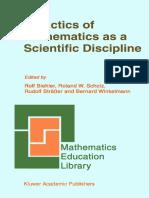 Didactica de la matematica como disciplina cientifica