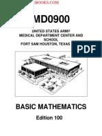 2001 Us Army Basic Mathematics 124p
