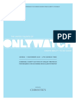 Only Watch 2019 - Official Catalogue