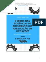 E-book 8 erros nas exigencias de documentos de habilitação em licitações.pdf
