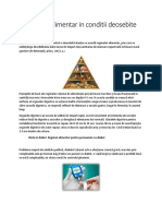 Regimul Alimentar in Conditii Deosebite
