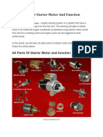 11 Parts of Car Starter Motor and Function