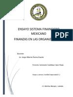 Ensayo sistema financiero mexicano