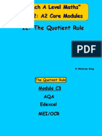 12 the Quotient Rule