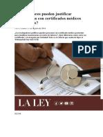 Trabajadores Pueden Justificar Inasistencias Con Certificados Médicos Particulares