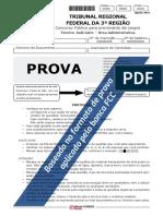 ProvaTRF 3 (Técnico Judiciário – Área Administrativa) - FOLHA de RESPOSTAS