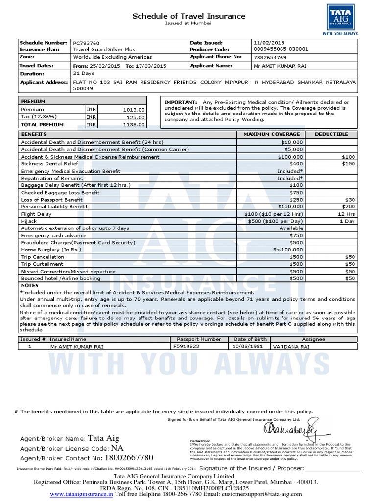 Tata Aig Insurance Renewal ~ news word