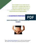 Bajar de Peso Facilmente - 5 Tips Para Bajar de Peso Facilmente