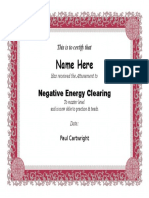 negative energy clearing