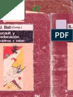 FOUCAULT Y LA EDUCACION, Disciplinas y saber, Ball Stephen.pdf
