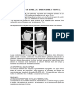 Procesamiento de Revelado Radiografico Manual