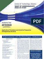 UTech, Ja Summary of Undergraduate Courses of Study