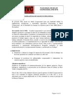 Plan Anual de Salud Ocupacional 2016