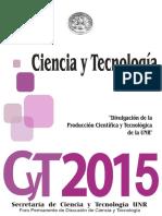 Libro Encuentro Ciencia y Tecnica de la UNR 2015