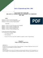 Loi Relative a l'Apprentissage 1981- 2003