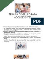 Terapia de Grupo Para Adolescentes