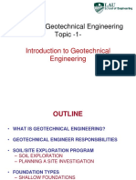 Topic 1 - Introduction to Geotechnical Engineering