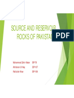 reservior rock of indus basin