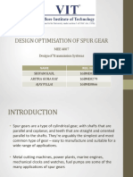 Design Optimisation of Spur Gear - Review1