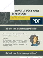 Preguntas sobre Toma de decisiones gerenciales