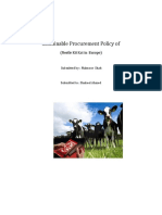 Sustainable Procurement Policy Of
