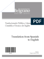 Translation from Spanish into English