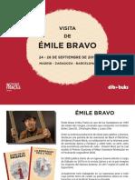 Visita de Emile Bravo a España