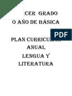 Plan Curricular Anual 2016 -Lengua 3ro Uno