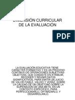 Dimensión Curricular de La Evaluación