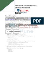 Cisco Certified Network Associate Course CCNA Syllabus PDF 2019 Download Free