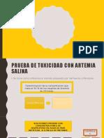 Toxicidad Artemia